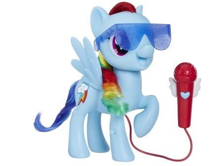 De Zingende Rainbow Dash van My Little Pony