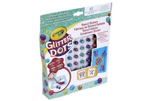 Glitter Dots van Crayola, leuk voor de vakantie