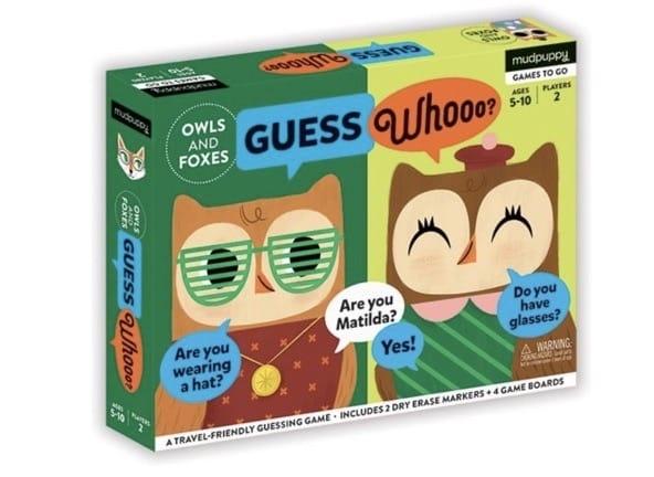 Guess Whooo van Mudpuppy, een leuk spel voor onderweg