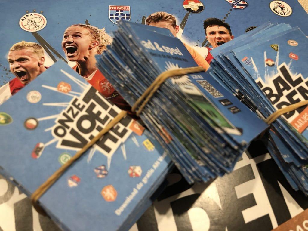 Voetbalplaatjes van de Albert Heijn, ook leuk voor meisjes