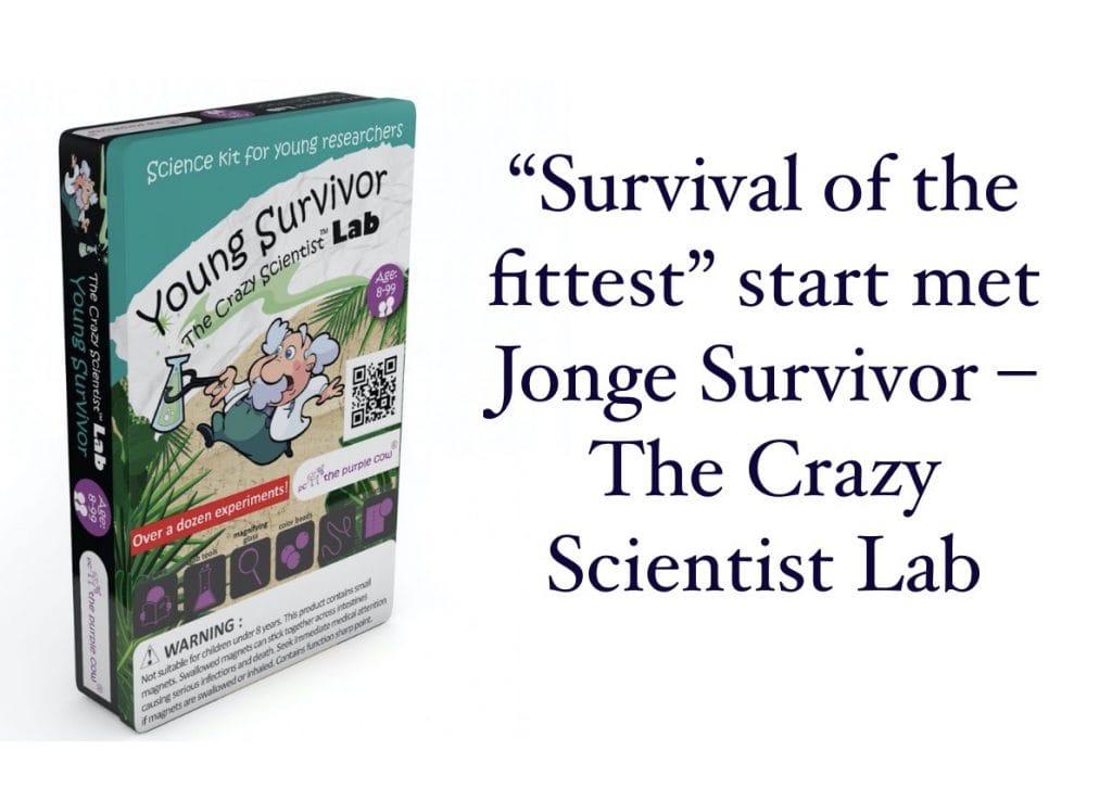 Overlevingsskills oefenen met Jonge Survivor – The Crazy Scientist Lab