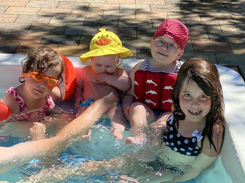 gezin vier kinderen