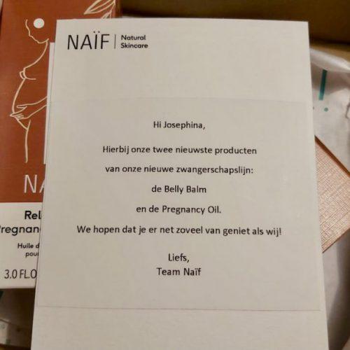 Een beetje minder zorgen met de 'Worry free' pregnancylijn van Naïf.