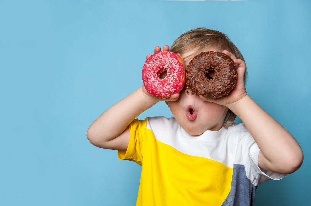 donut rups traktatie